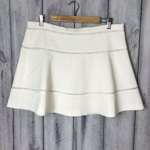 Banana Republic NWT Skirt White Textured Lined